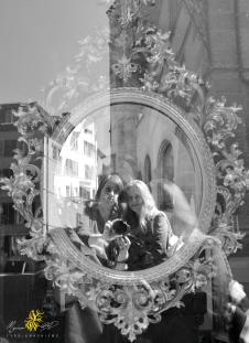 Bienne, basse-ville, dans le miroir